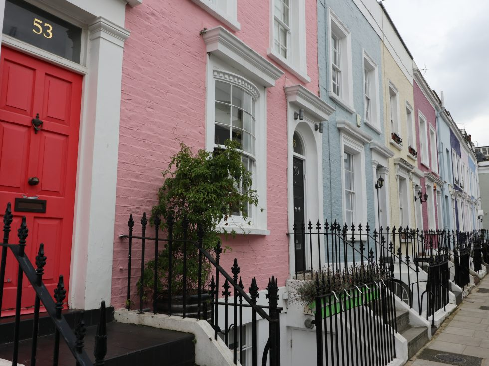 Case colorate di Notting Hill